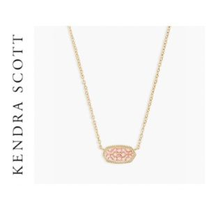 Kendra Scott Elisa Gold Pendant Necklace Rose Gold